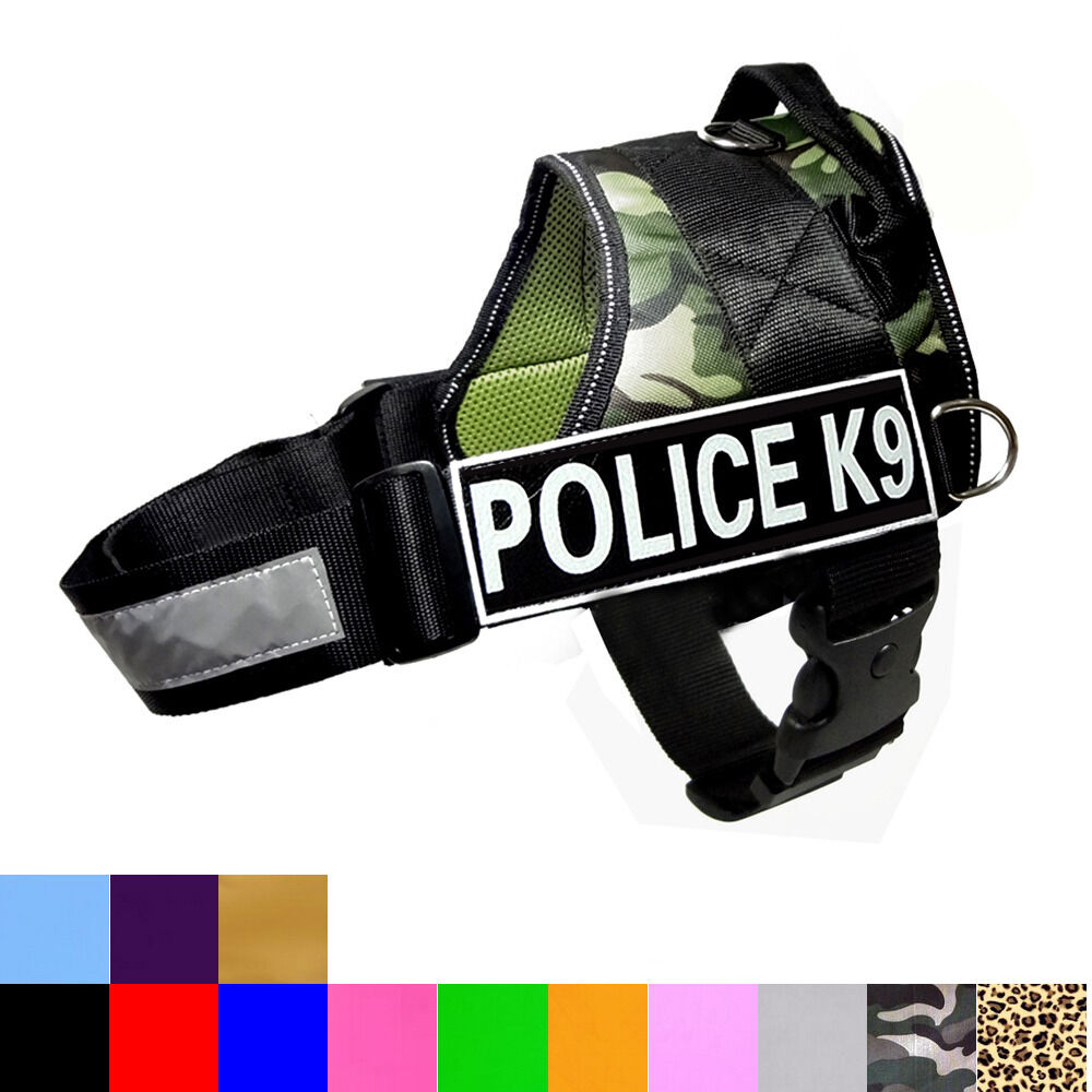 Quot Police K9 Quot Service Dog Vest Harness Padded Removable