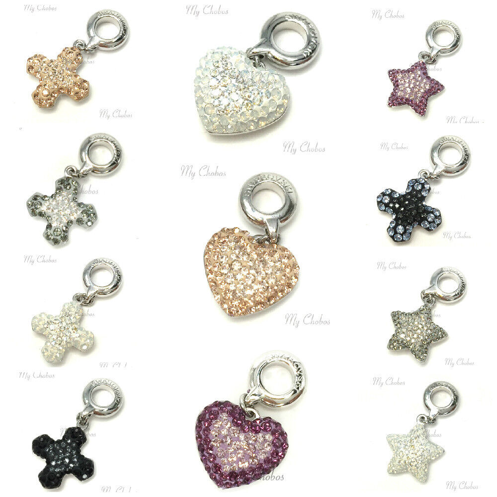 swarovski european hang bracelet charm stainless steel becharmed pave crystal ebay. Black Bedroom Furniture Sets. Home Design Ideas