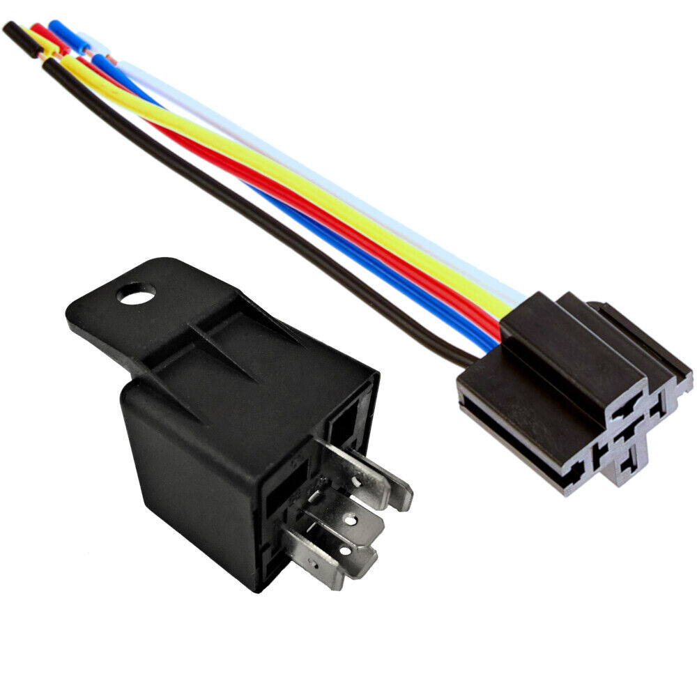 one 12v 30 40a automative relay with harness socket spdt. Black Bedroom Furniture Sets. Home Design Ideas
