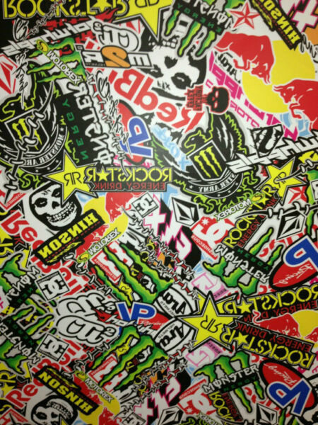 STICKERS BOMBERS AUTOCOLLANT 20 X 10CM KIT DECO MOTO CROSS SPORTIVE QUAD VTT ...