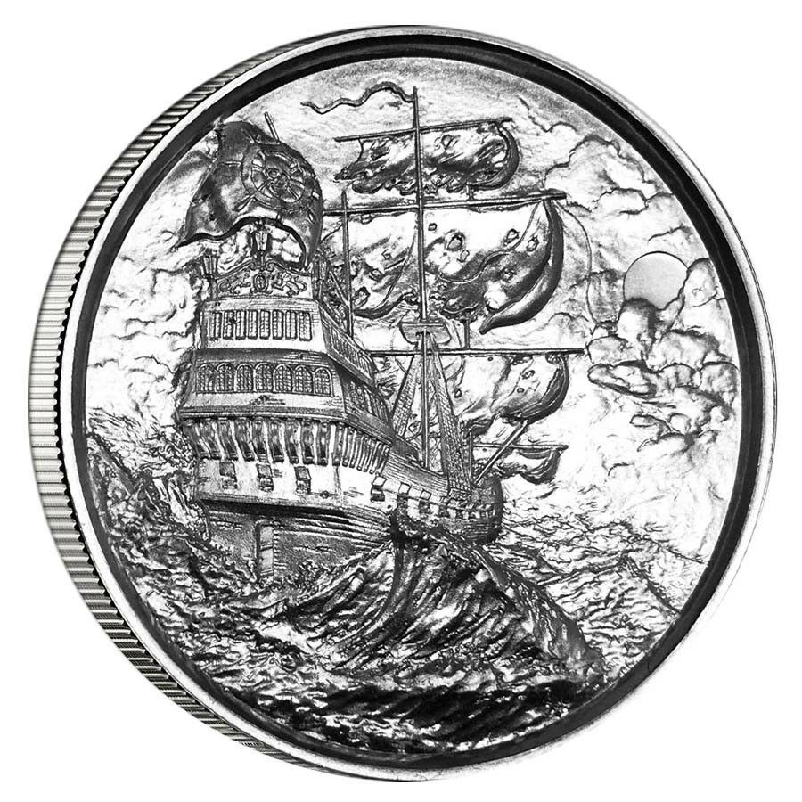 Privateer Series Storm Ultra High Relief 2 Oz 999 Silver