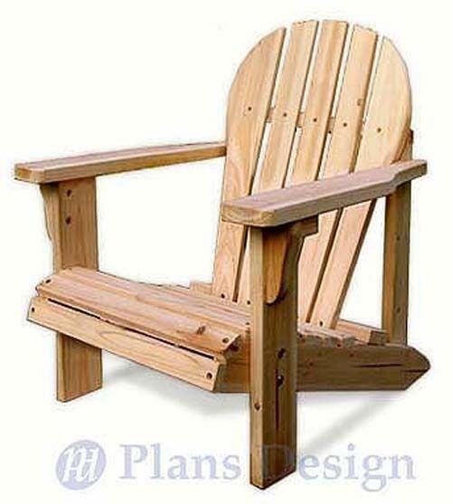 Child adirondack chair with pattern trace and cut for Blueprints for kids