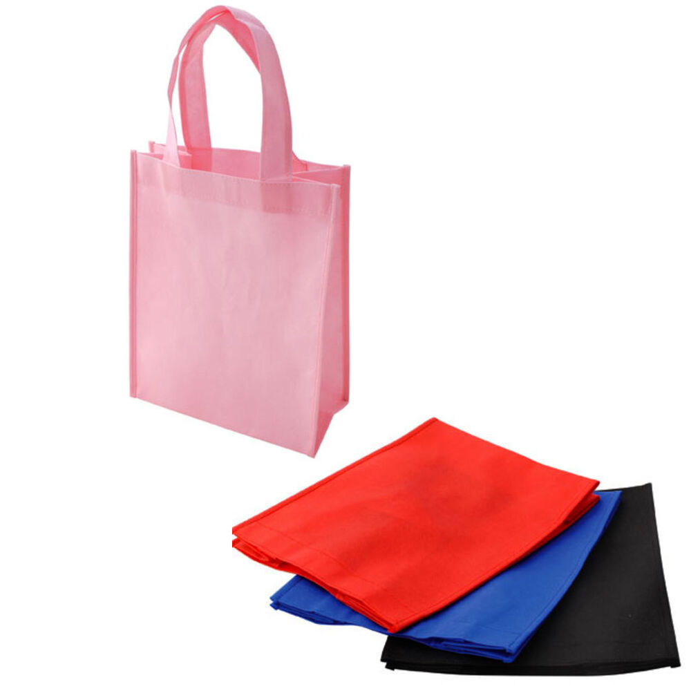Lot non woven gift present bags shopping tote totes