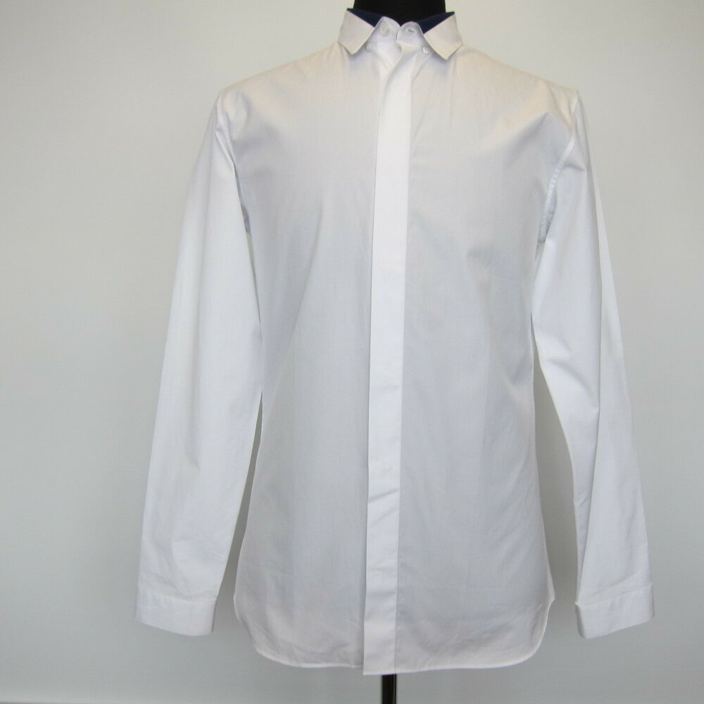 New dior homme white tuxedo dress shirt size us 15 5 for Size 15 dress shirt