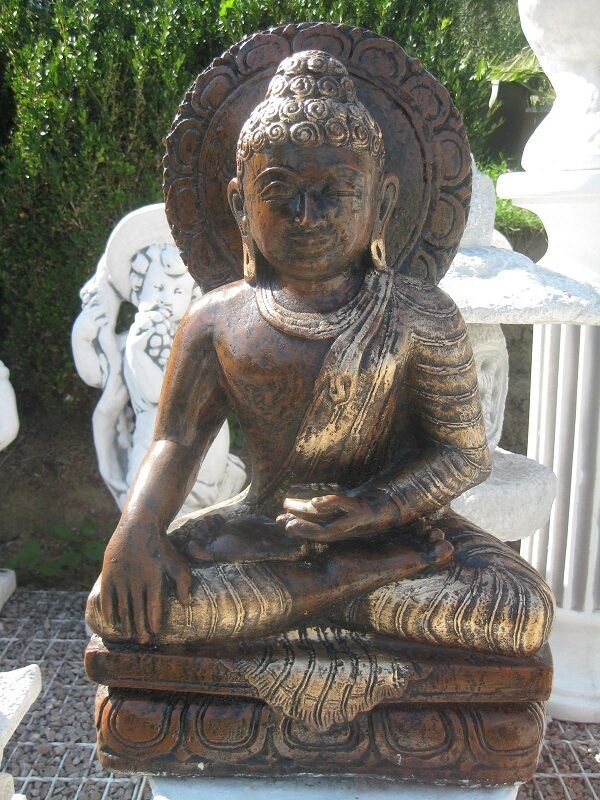buddha 31 kg 55 cm gro steinfigur feng shui statue japanischer garten neu ebay. Black Bedroom Furniture Sets. Home Design Ideas