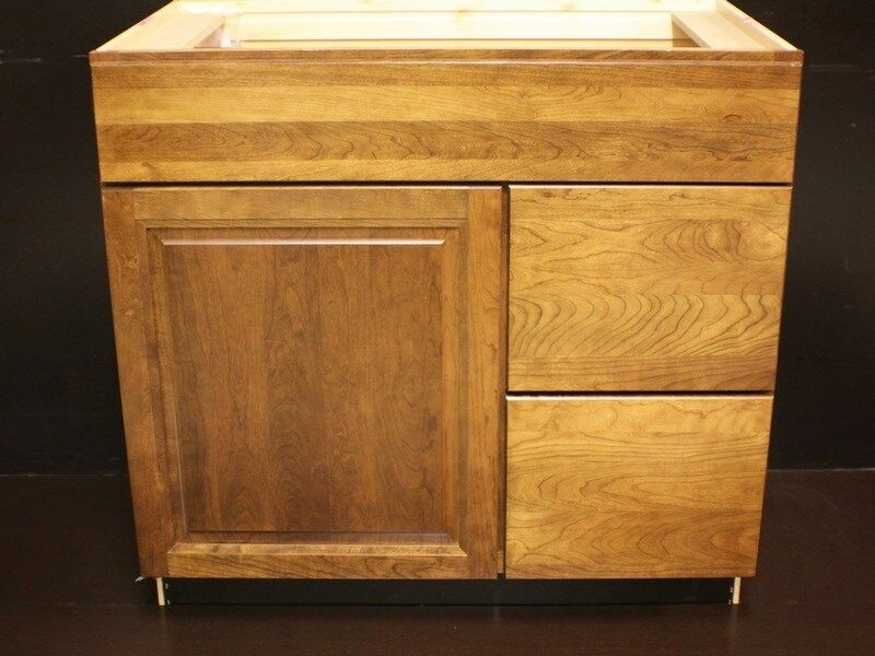 Kraftmaid Cherry Bathroom Vanity Sink Base Cabinet 36