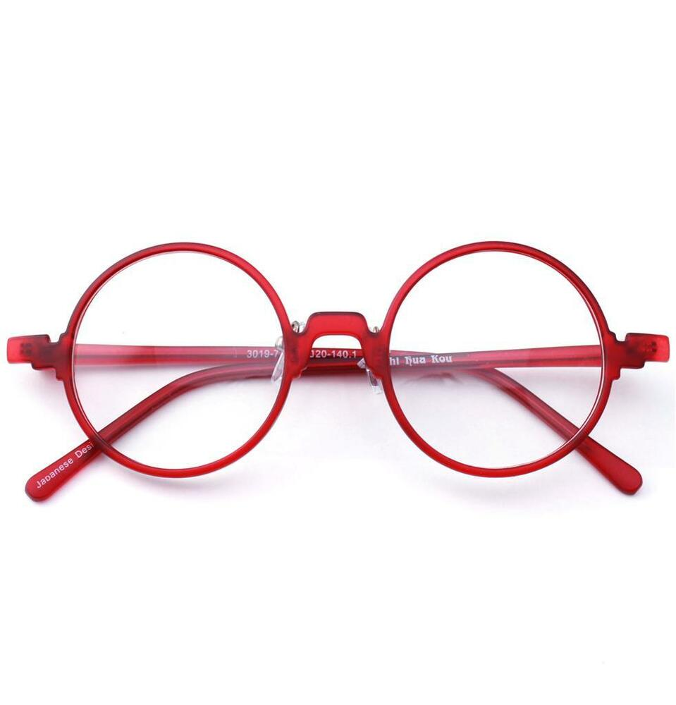 Luxottica Round Eyeglass Frames : Harry Potter Vintage Retro Flexible Round Red Eyeglass ...