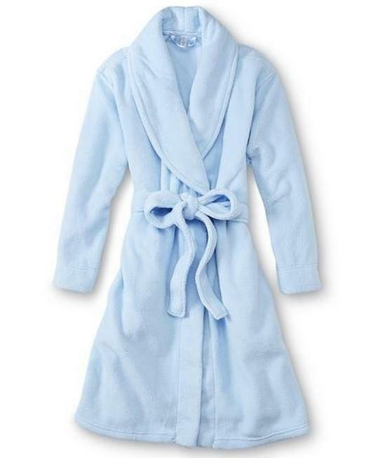 Bathrobe: NWT Womens Pink K Plush BATHROBE Robe Size S M L XL Blue