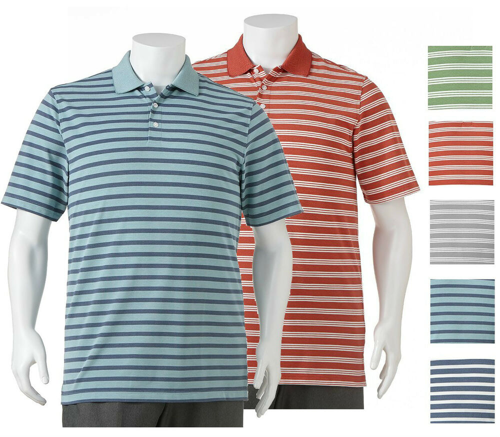 New Arrow Men S Striped Performance Polo Assorted Colors