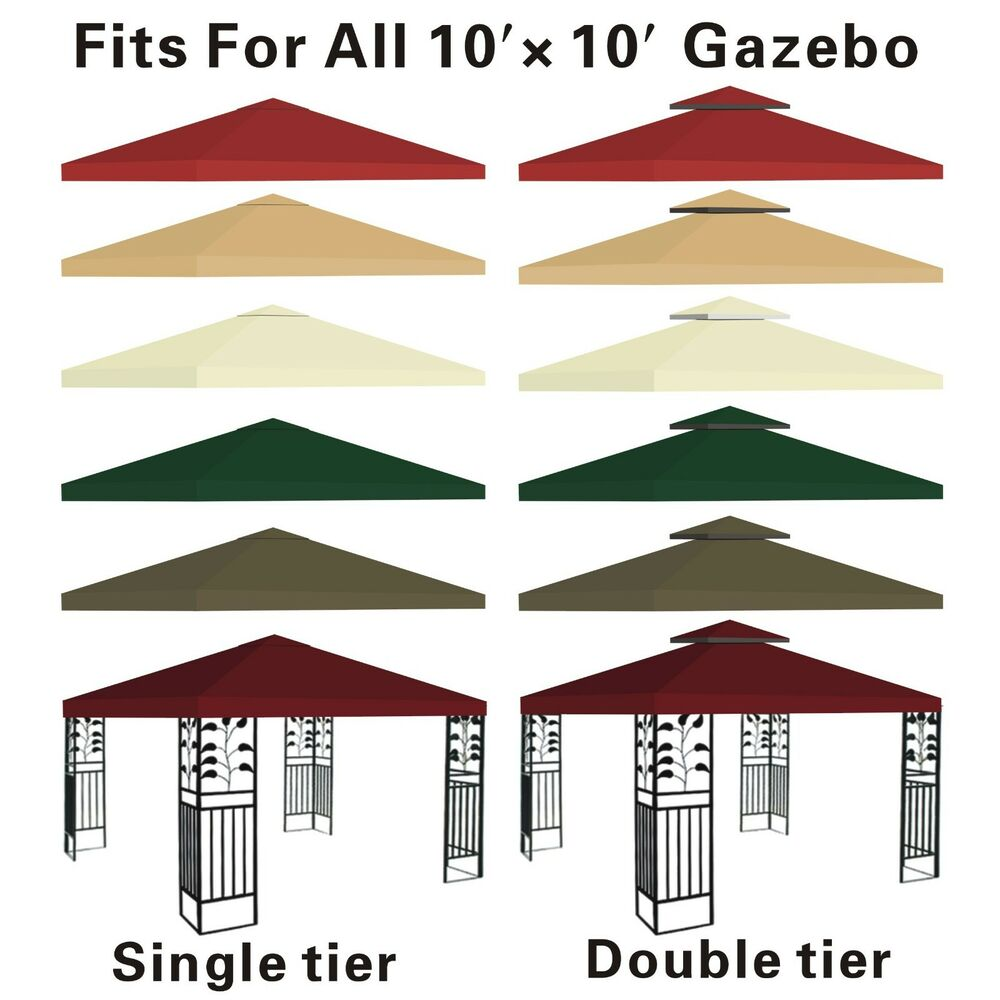 Canopy Replacement Top 10x10 Patio Pavilion Gazebo