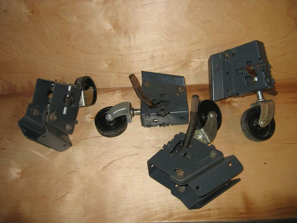 Sears Craftsman Table Saw Radial Arm Saw Step Up Casters Wheels 4pc Set Ex Cond Ebay