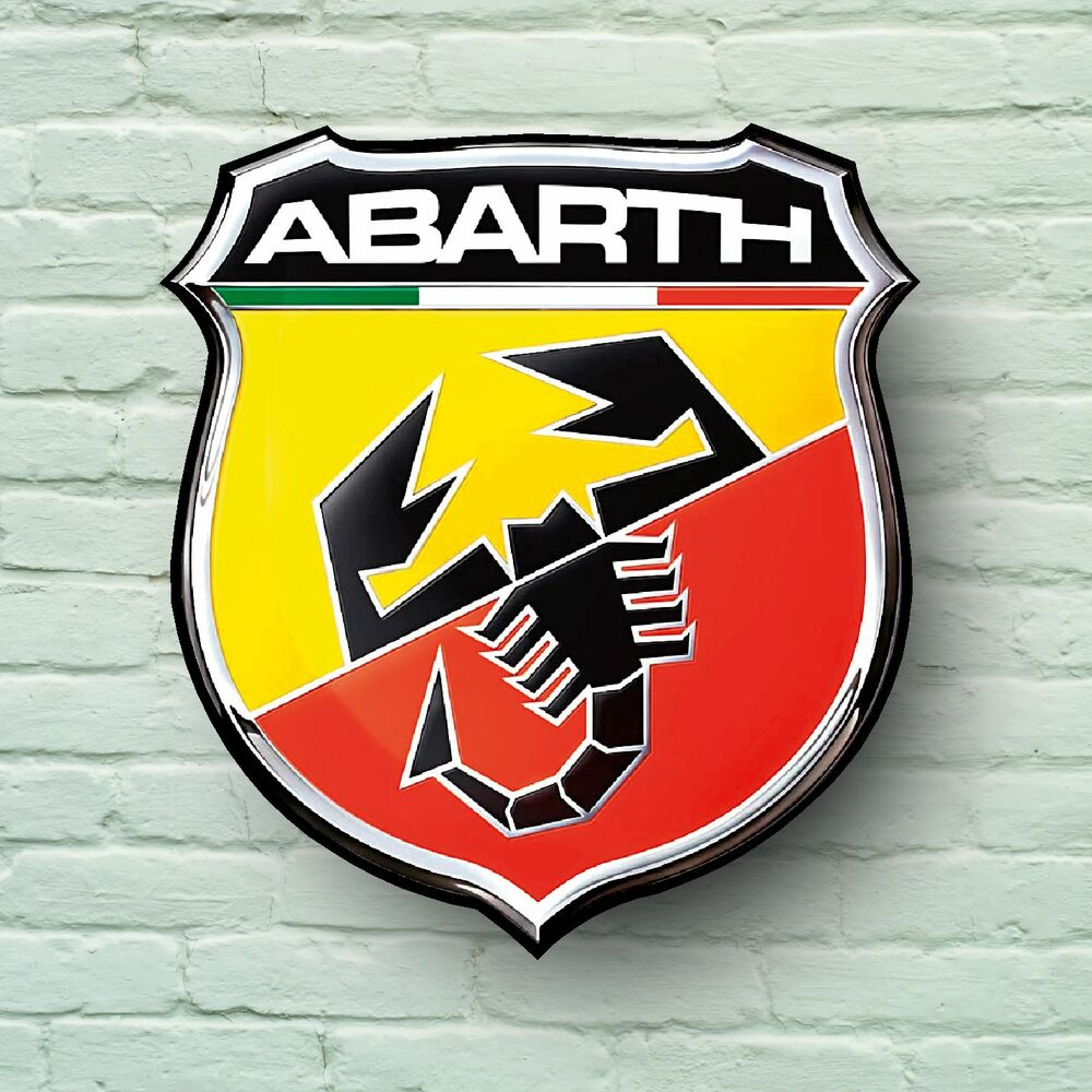 Abarth Logo 2ft Large Garage Sign Wall Plaque Car Classic