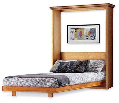 Murphy mission style queen vertical wall bed woodworking for Mission style bed plans
