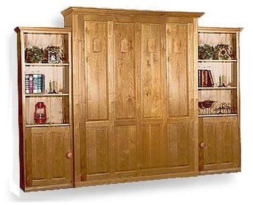Deluxe vertical murphy queen or full wall bed woodworking - Woodworking plans bedroom furniture ...