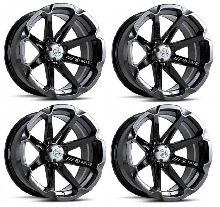 Atv Rims Wheel Covers : Msa m diesel atv wheels rims black quot honda foreman