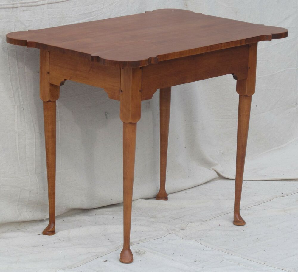 queen anne style cohasset colonial maple porringer top tea table ebay. Black Bedroom Furniture Sets. Home Design Ideas