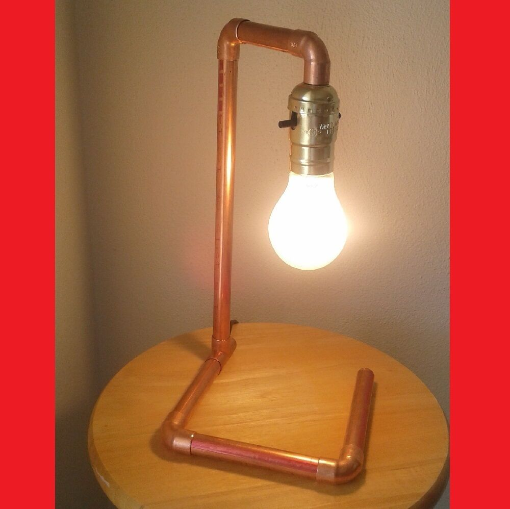 "Lighting Lamp: Copper Pipe Lamp ""The Crane"""