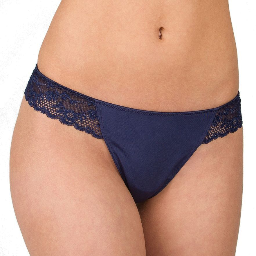 c215d184fca Details about Candies Sexy Microfiber Navy Blue Lace G-String Thong, Small  5 Peacoat, FREE S&H