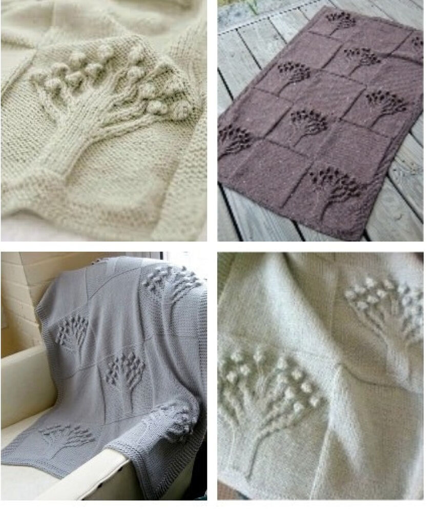 Knitting Pattern- Double Knit- Tree of Life blanket ...