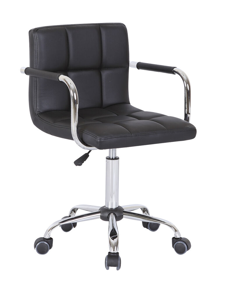 Office swivel chair pu leather computer desk chairs salon for Swivel chairs for office