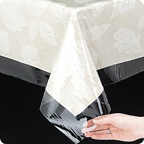 Clear Tablecloth Protector 3 Gauge Vinyl Easily Wipes