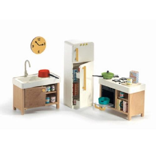 Djeco Modern Doll House Furniture Set The Kitchen Ebay