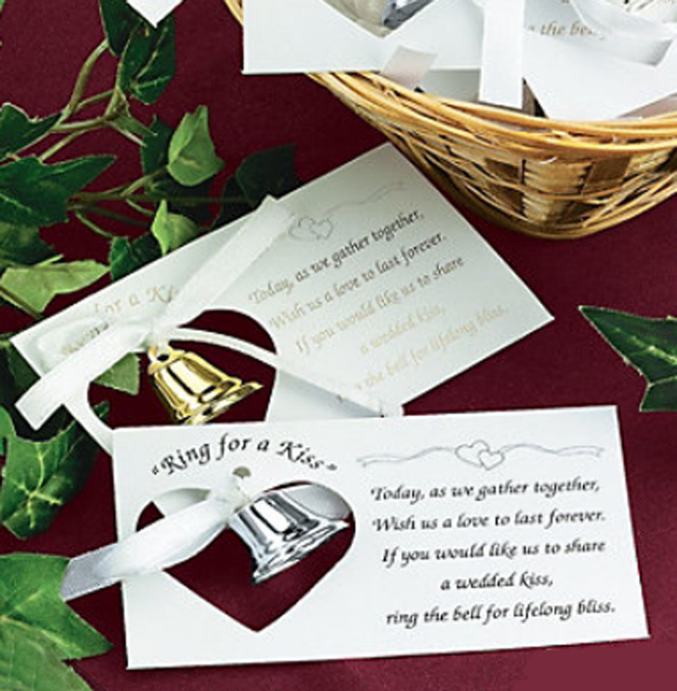 kissing bell wedding kiss poem reception favor table decor lot ebay