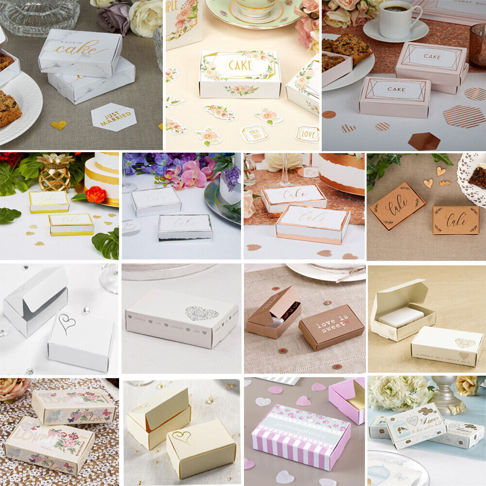 wedding cake slice boxes uk 10 wedding cake slice boxes 17 designs shabby chic 24906