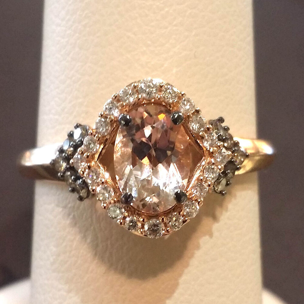 Le Vian Peach Morganite 14k Rose Gold Ring With Chocolate