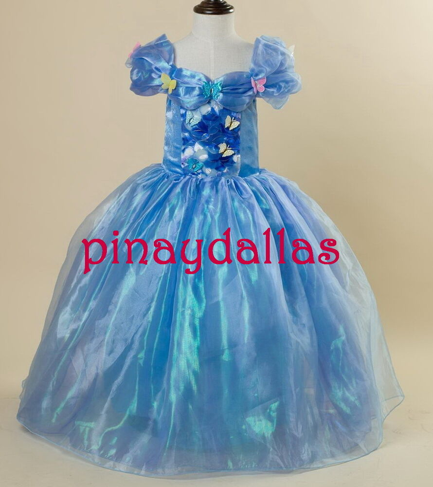 Cinderella Princess Character Dress Child 3t 4t 5 6 7: New Cinderella Dress Costume For Girls Size 8 US Seller