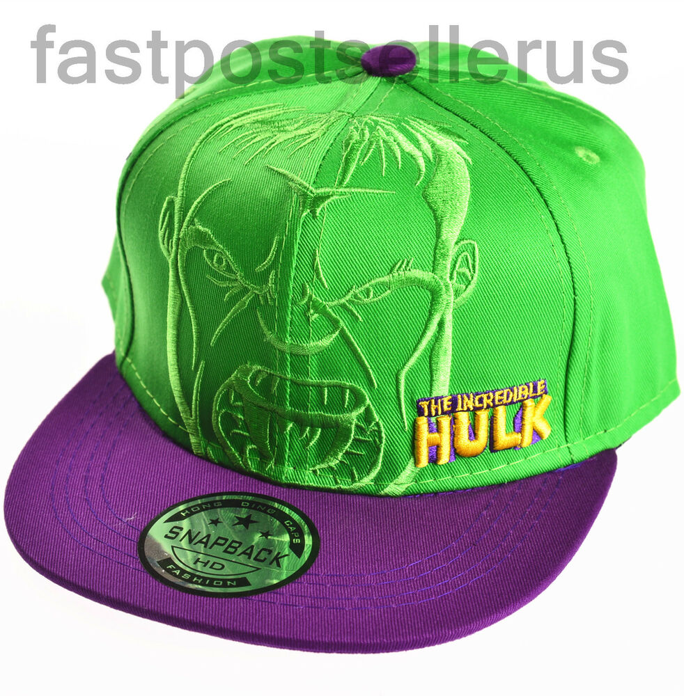 Brand New Kids Boys Marvel Hero Hulk Cool Sunny Baseball