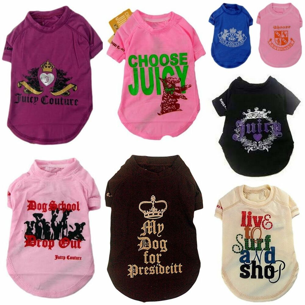 JUICY COUTURE DOG T-SHIRT COAT CLOTHES JACKET OUTFIT SIZE ...