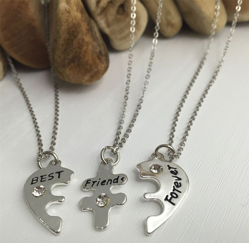 best friends forever 3 part necklaces friendship