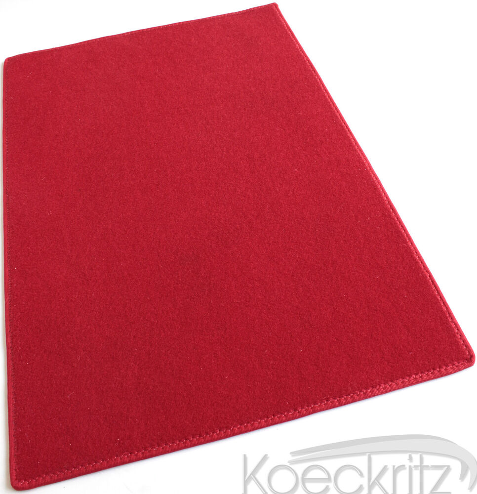 Red Indoor Outdoor Area Rug Carpet With Marine Backing
