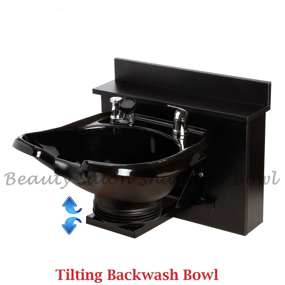Tilting shampoo bowl sink shampoo cabinet salon spa for Beauty spa equipment
