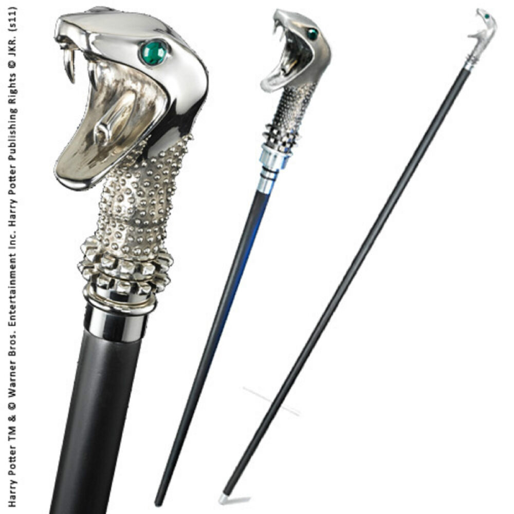 harry potter lucius malfoy walking stick and wand malfoy 39 s cane noble film prop ebay. Black Bedroom Furniture Sets. Home Design Ideas