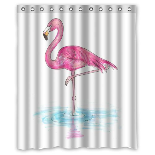 Brand New Flamingo Shower Curtain 60 X 72 Inch