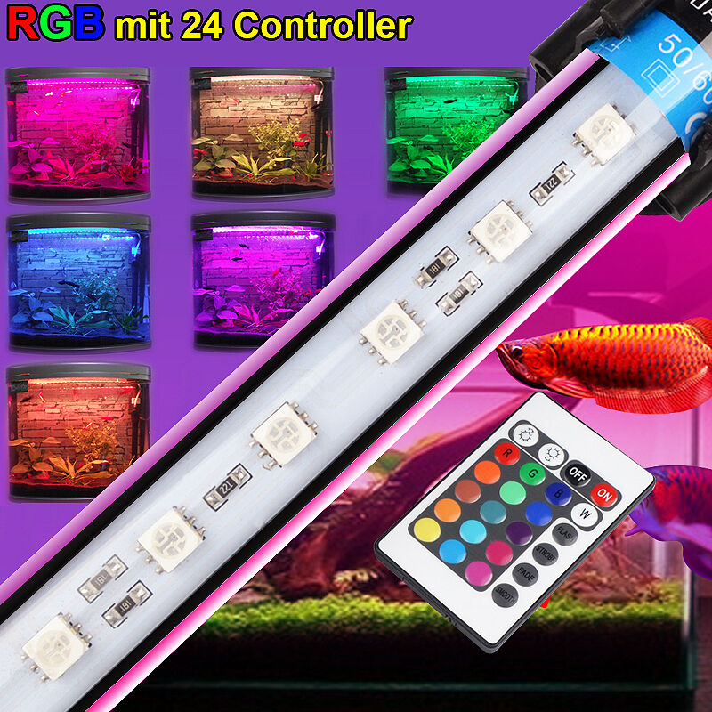rgb fernbedienung aquarium teichfische led beleuchtung wasserdicht lampe ebay. Black Bedroom Furniture Sets. Home Design Ideas