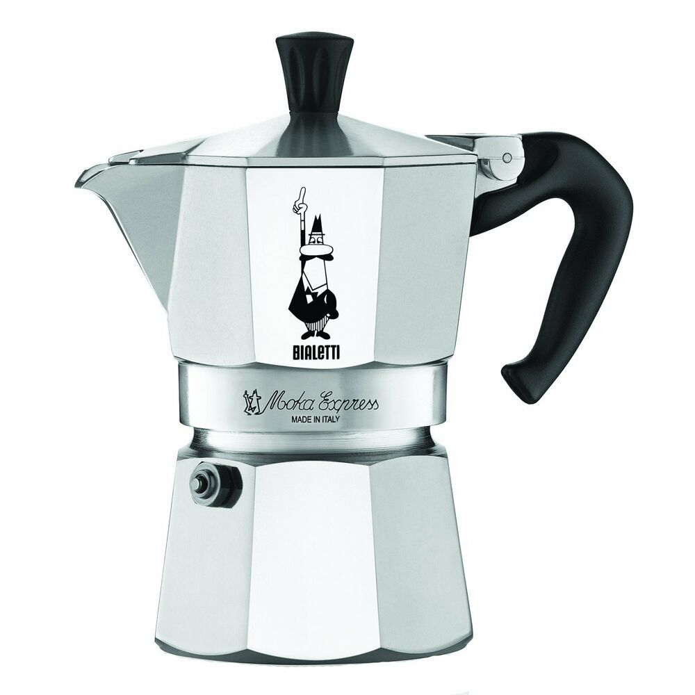 bialetti moka express 3 cup stovetop espresso maker pot coffee latte new 633585385844 ebay. Black Bedroom Furniture Sets. Home Design Ideas