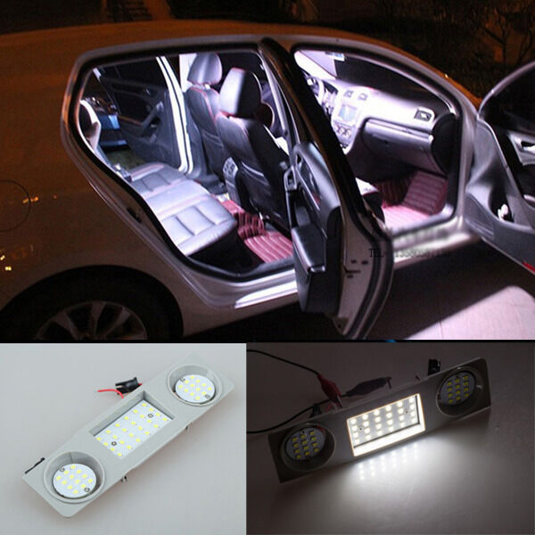 2010 Volkswagen Golf Interior: 2x Error Free Front SMD LED Interior Dome Map Light For VW