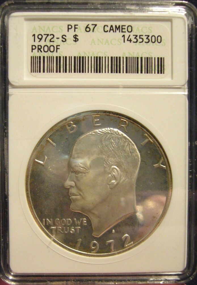 Tmm 1972 S 40 Silver Certified Coin Eisenhower Dollar