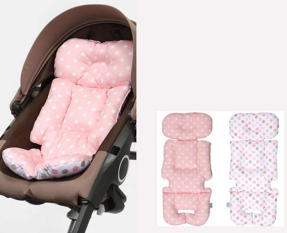 Stroller Liner Car Seat Pad Cotton Rayon Reversible Cover