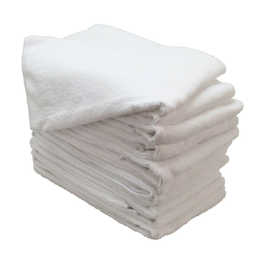 24 NEW WHITE MICROFIBER TOWELS NEW CLEANING CLOTHS BULK