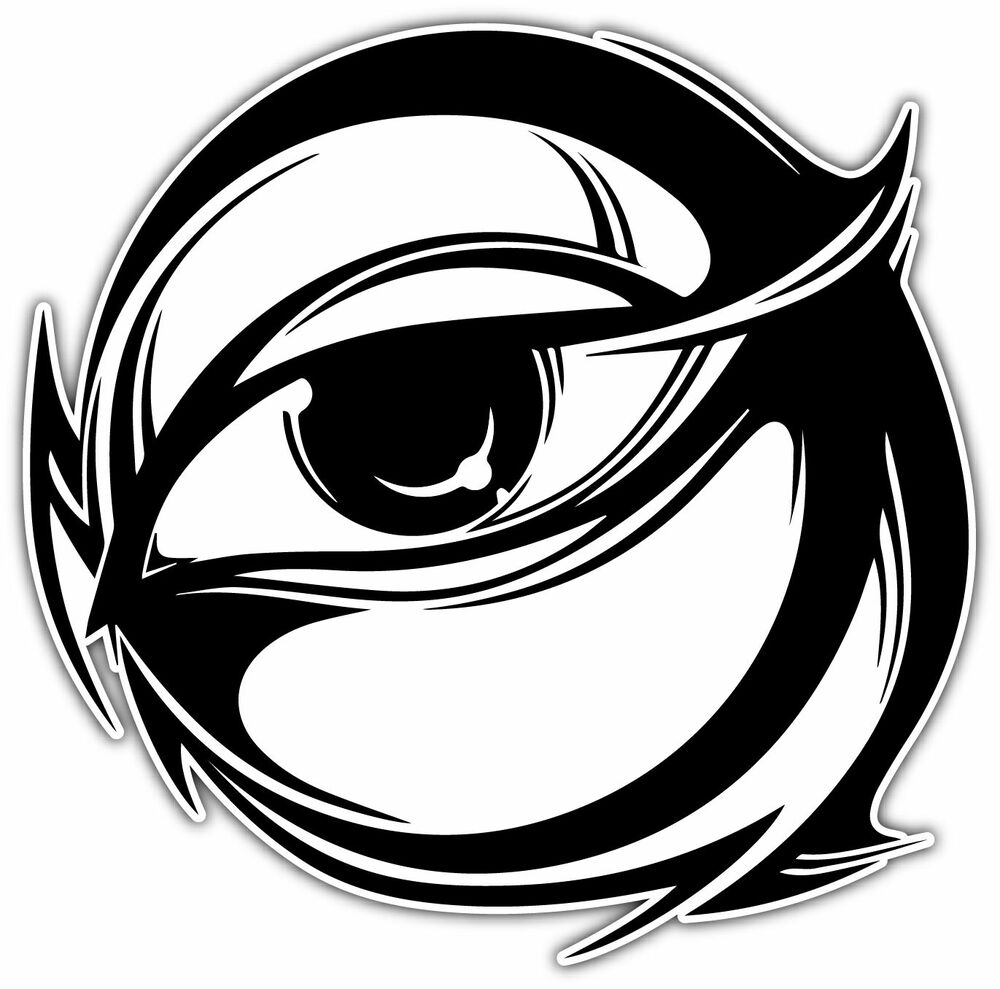 All Seen Eye Tribal Circle Car Bumper Vinyl Sticker Decal