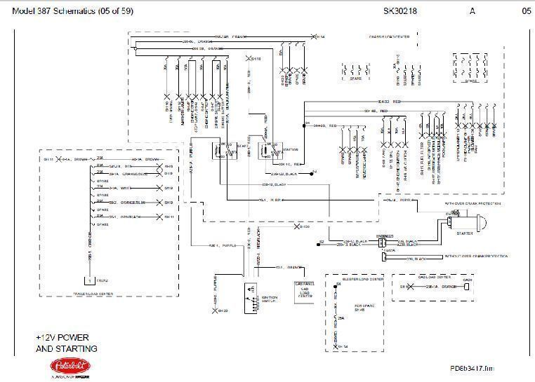 before oct 15 2001 peterbilt 387 complete wiring diagram schematic ebay