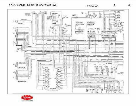 1992 peterbilt wiring diagram peterbilt 348 conventional models basic 12 volt wiring ...
