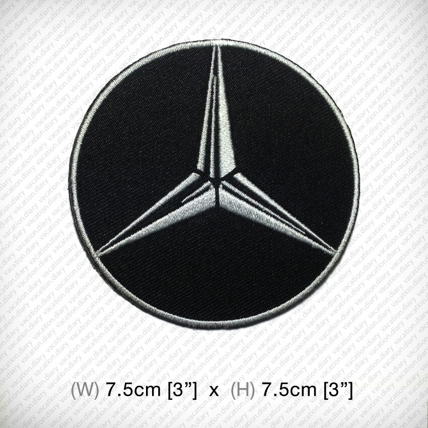 New MERCEDES BENZ Logo Embroidered Patch Iron On Or Sew