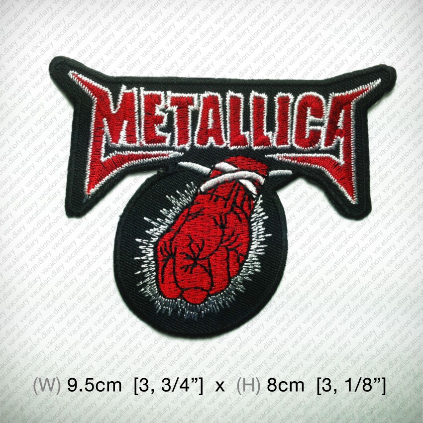 Metallica new embroidered iron on patch or sew thrash