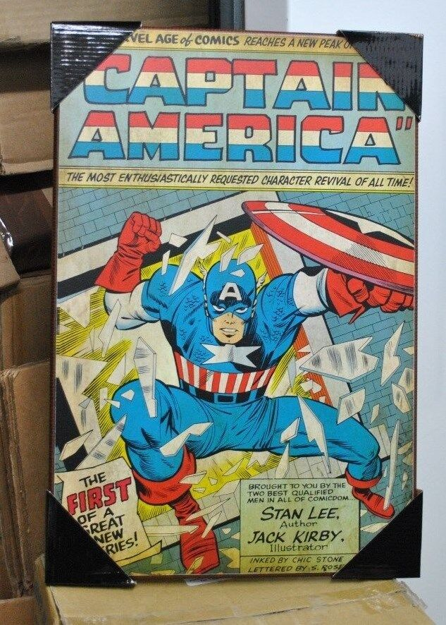 Marvel Wood Wall Decor : Captain america jack kirby marvel comics silver buffalo