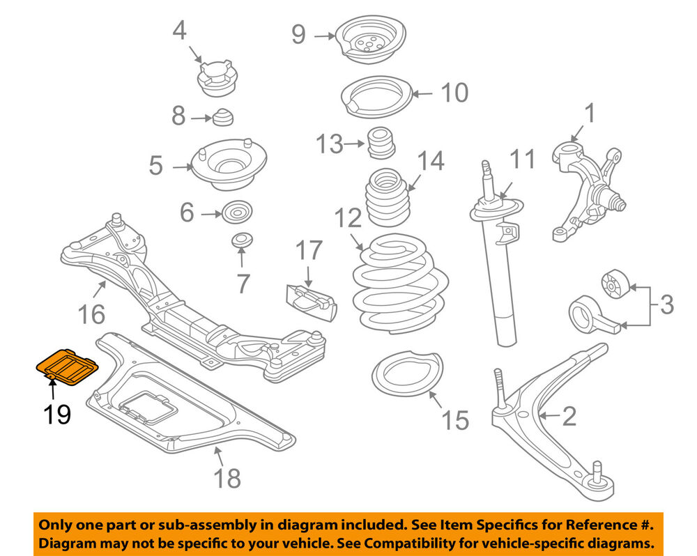 Bmw Oem 03 08 Z4 Front Suspension Access Cover 51617199687